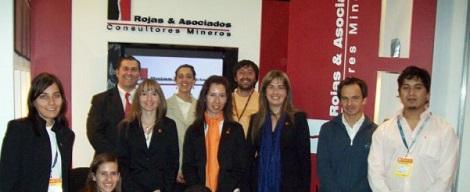 Finalizando Argentina Mining 2008. Parte del equipo de Rojas & Asociados