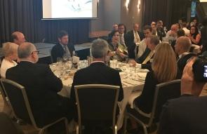 Michetti speaking at dinner