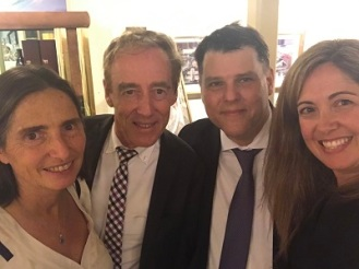 Ms Gobbi, Ambassador Campbell, Diego Temperley and me at AABC cocktail, Sydney 2017
