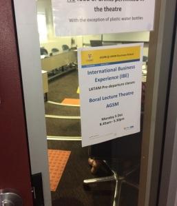 entrance lecture